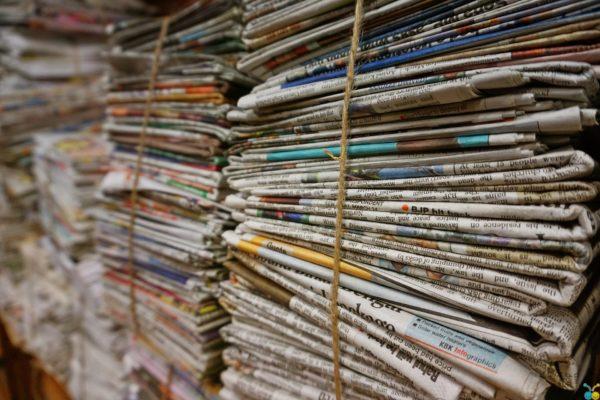 Zeitungen für Umzug